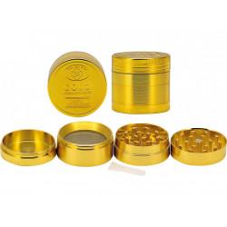 Młynek metalowy złoty, ∅4cm